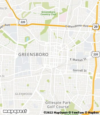 Map of Greensboro - Collection Agency