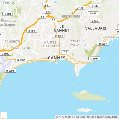Eiendommer i Cannes France, Coast and Country