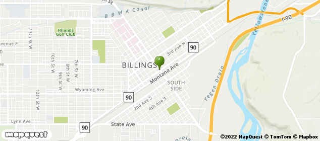 Billings, Montana Map