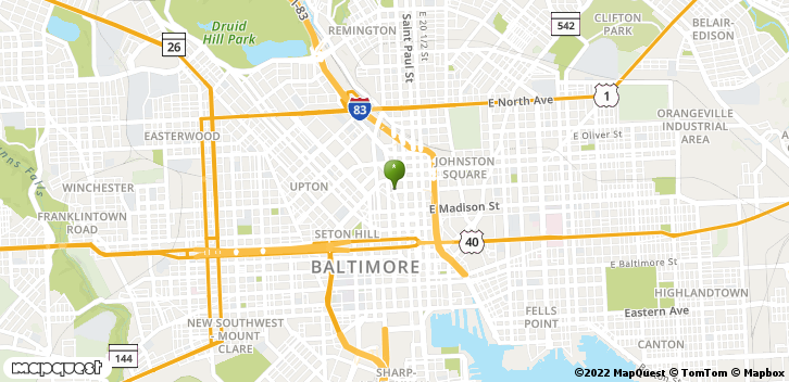 1001 Cathedral St Baltimore, MD, 21201 Map