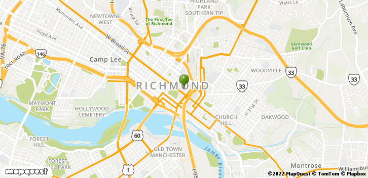 1250 E Marshall St Richmond, VA, 23298 Map