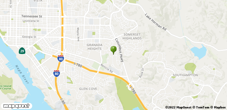 1410 Greenmont Dr Vallejo, CA, 94591 Map