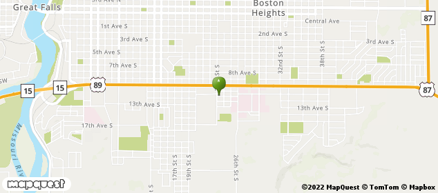 2300 12th Ave S Great Falls, Montana Map