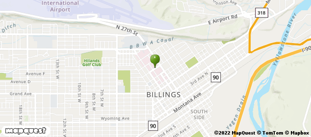 2800 10th Ave N Billings, Montana Map