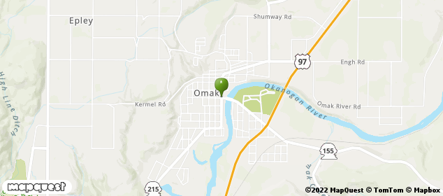 P O Box 551 Omak, Washington Map