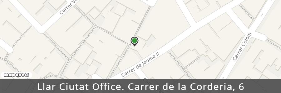 Mapa de las Oficinas de Llar Ciutat