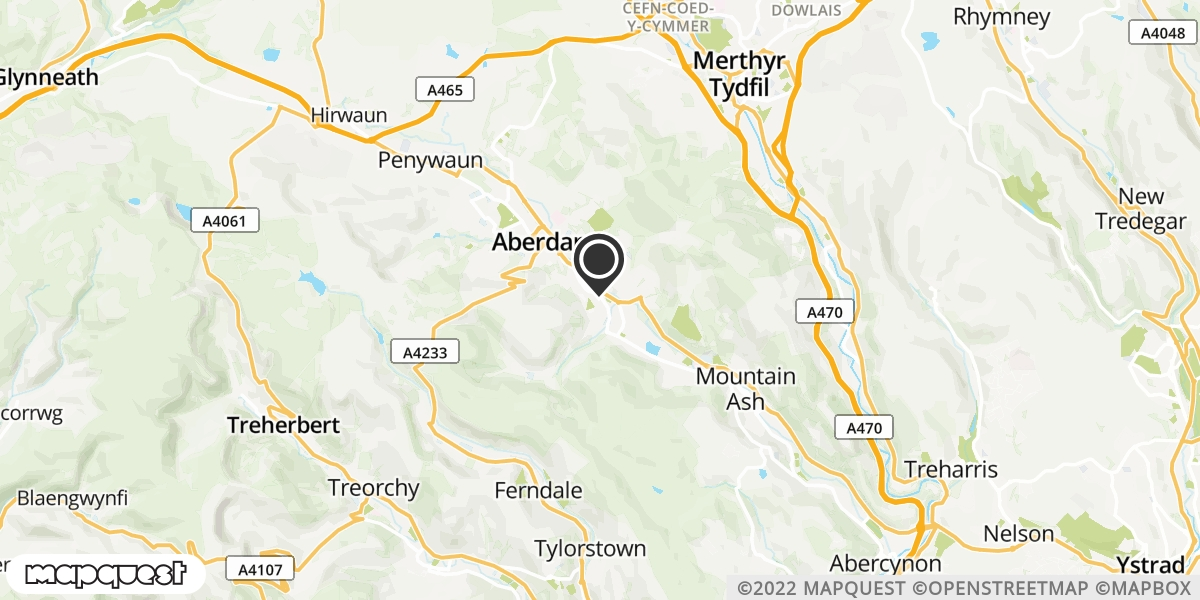 local map of watch repair drop off points in Aberdare, Mid Glamorgan | Repairs by Post