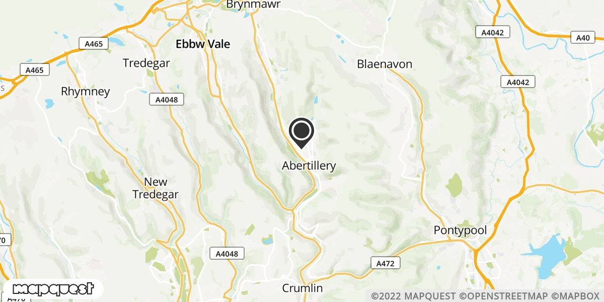 local map of watch repair drop off points in Abertillery, Gwent | Repairs by Post