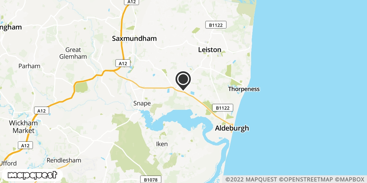 local map of watch repair drop off points in Aldeburgh, Suffolk | Repairs by Post