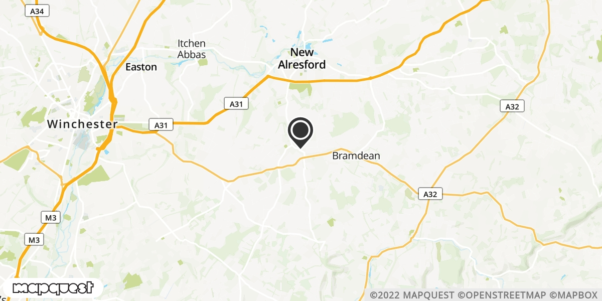 local map of watch repair drop off points in Alresford, Hampshire | Repairs by Post