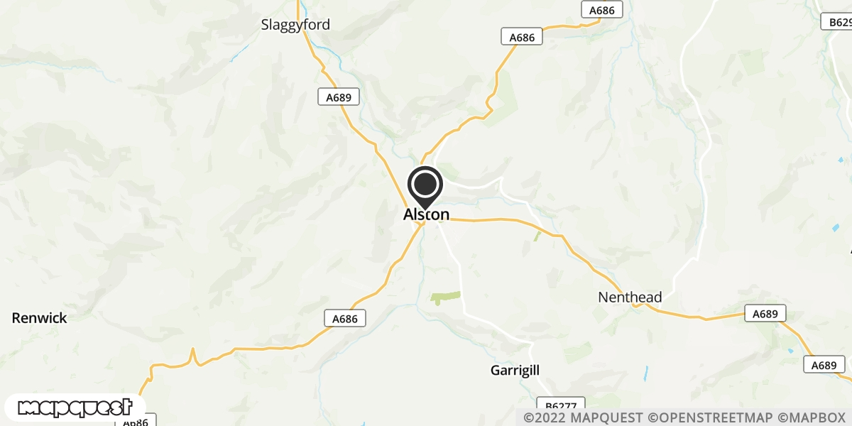 local map of watch repair drop off points in Alston, Cumbria | Repairs by Post