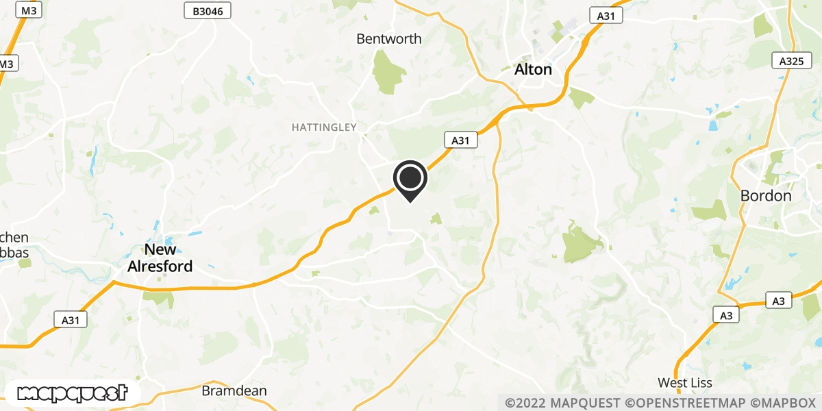 local map of watch repair drop off points in Alton, Hampshire | Repairs by Post