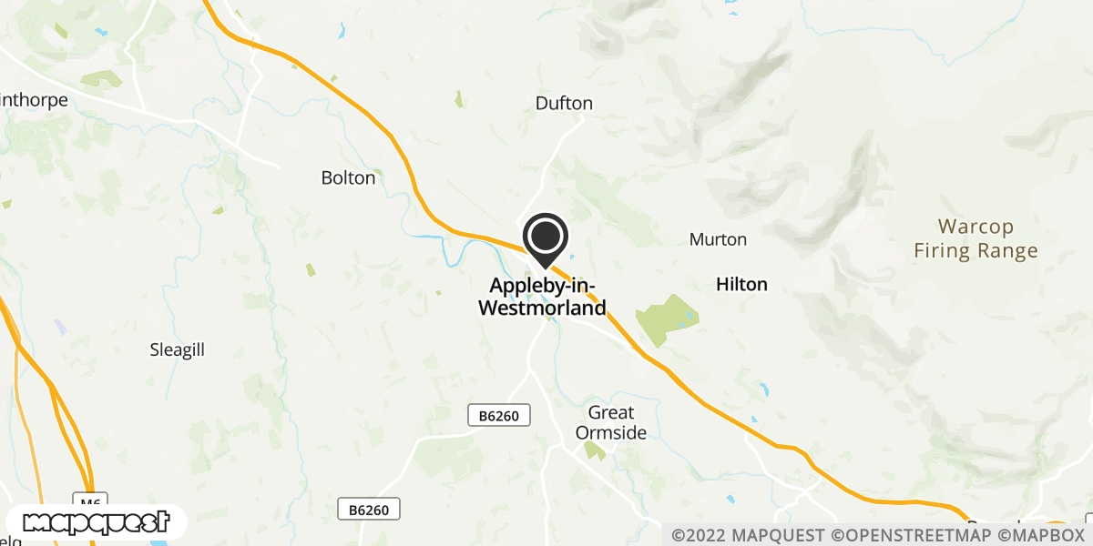 local map of watch repair drop off points in Appleby - In - Westmoreland, Cumbria | Repairs by Post