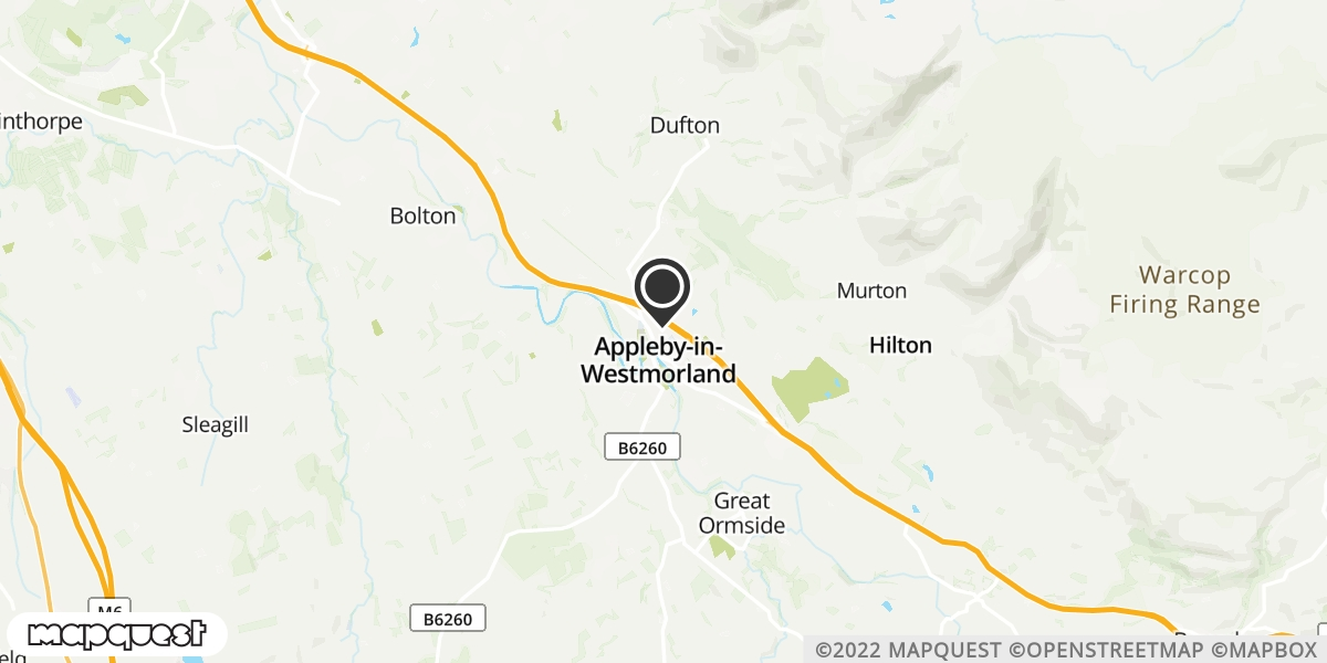 local map of watch repair drop off points in Appleby in Westmoreland, Cumbria   Repairs by Post