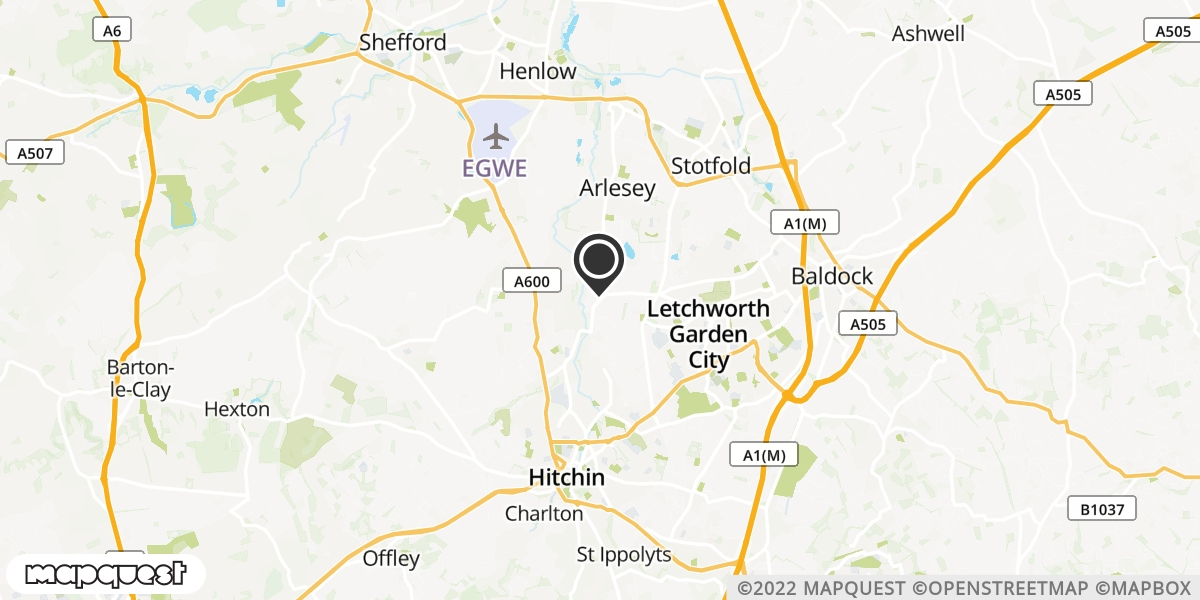 local map of watch repair drop off points in Arlesey, Bedfordshire | Repairs by Post