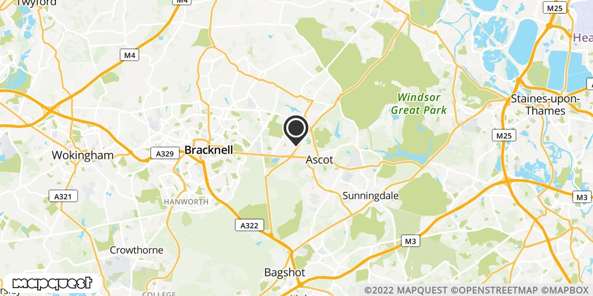 local map of watch repair drop off points in Ascot, Berkshire | Repairs by Post