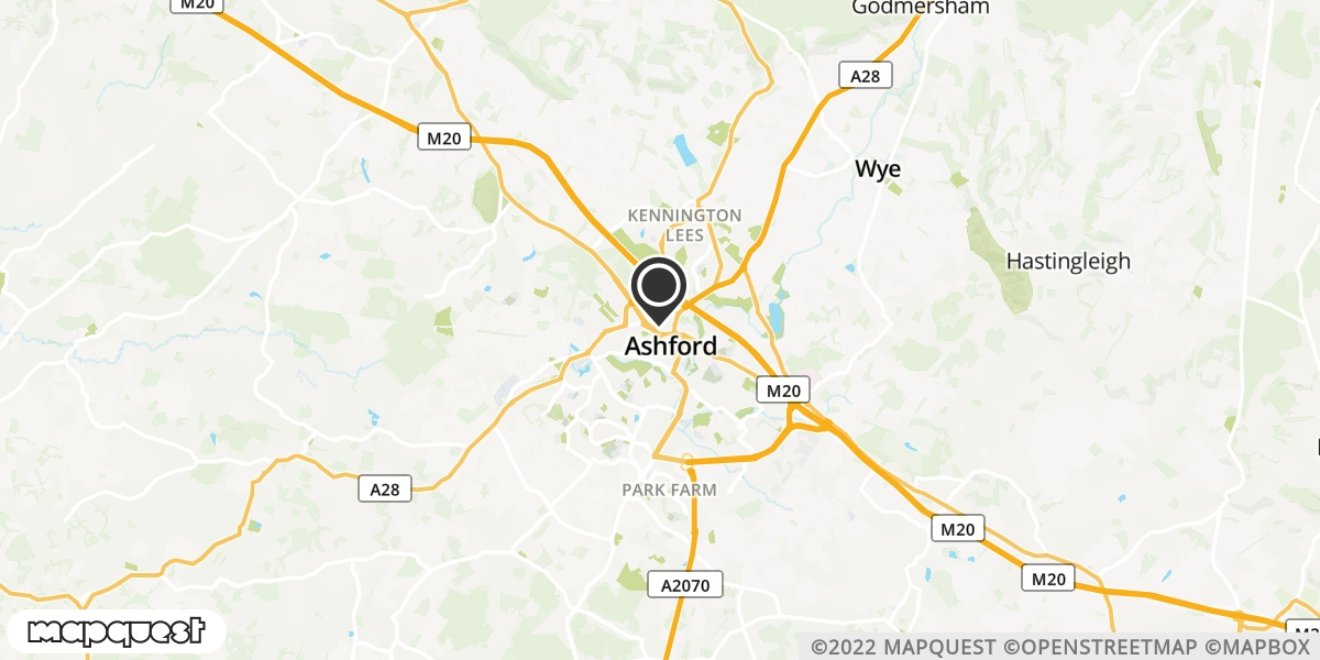 local map of watch repair drop off points in Ashford, Kent | Repairs by Post