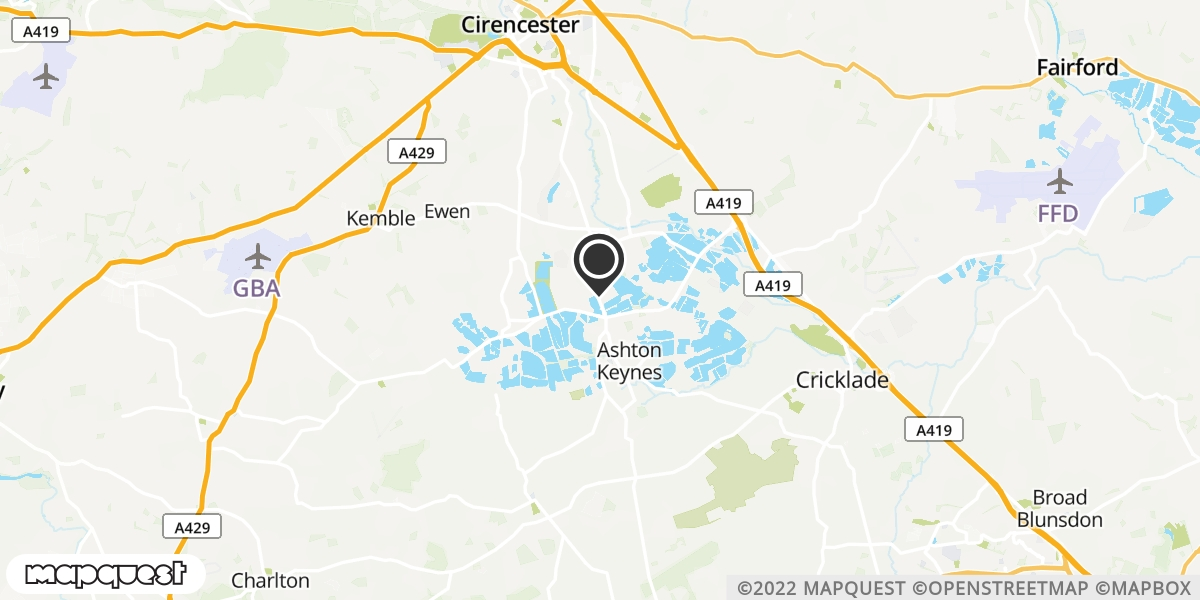 local map of watch repair drop off points in Ashton Keynes, Wiltshire | Repairs by Post
