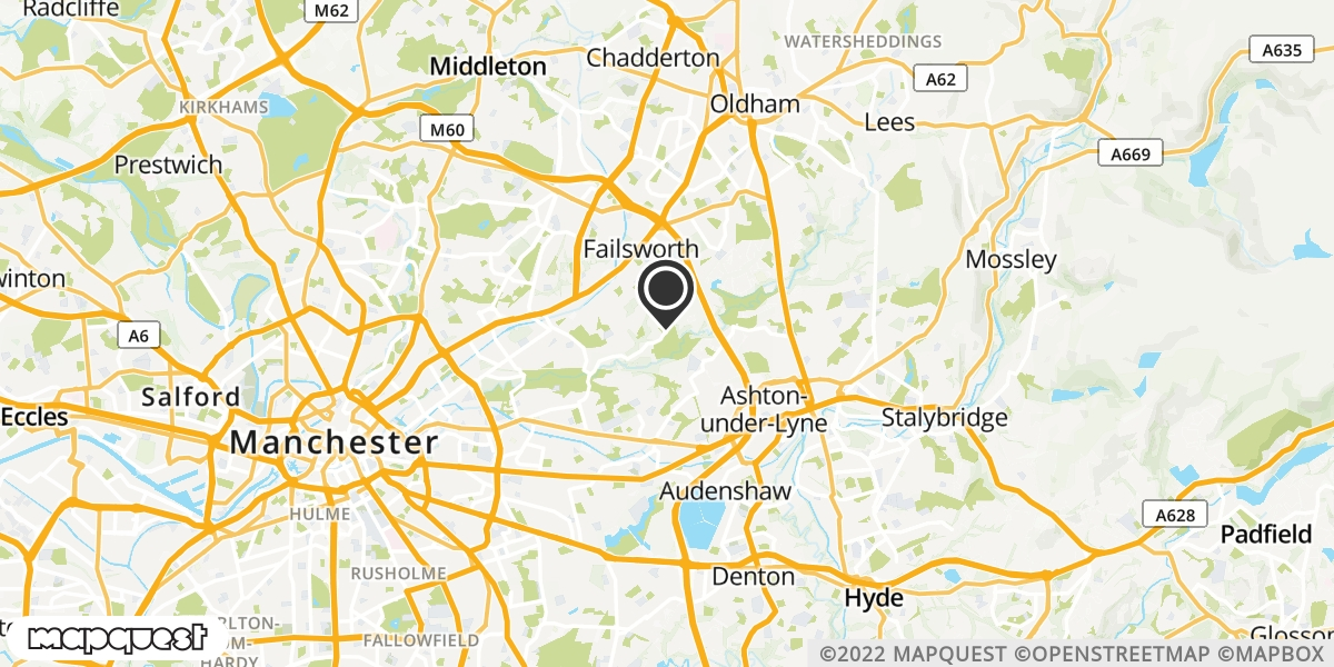 local map of watch repair drop off points in Atherton, Greater Manchester | Repairs by Post
