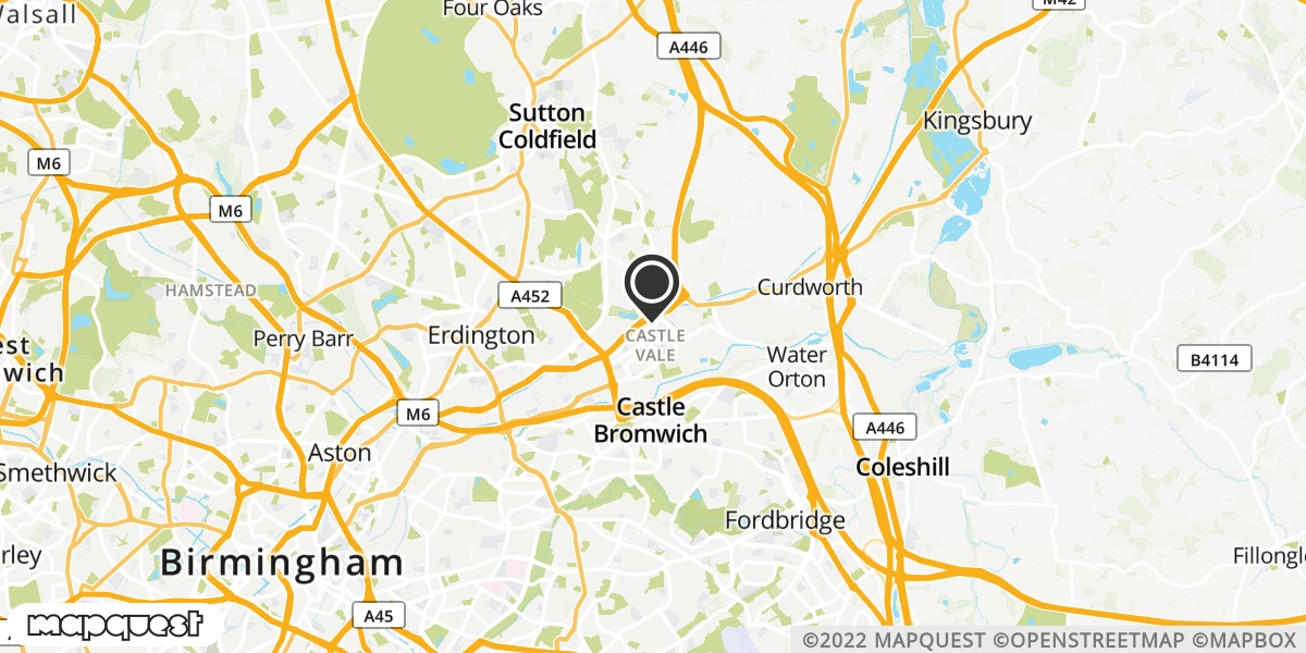 local map of watch repair drop off points in Baginton, Warwickshire | Repairs by Post