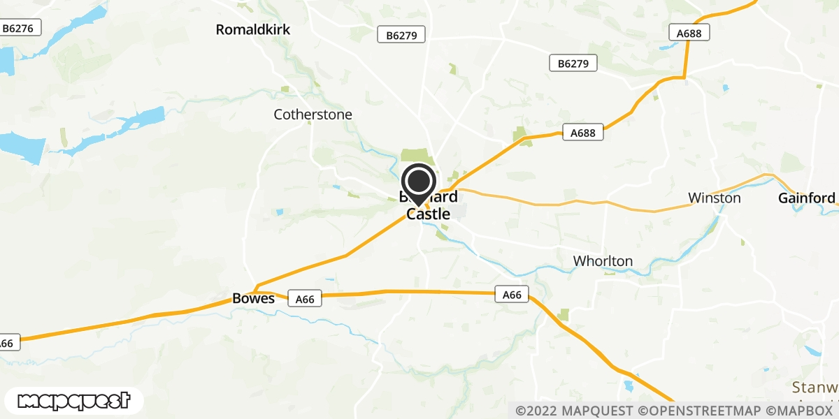 local map of watch repair drop off points in Barnard Castle, County Durham | Repairs by Post