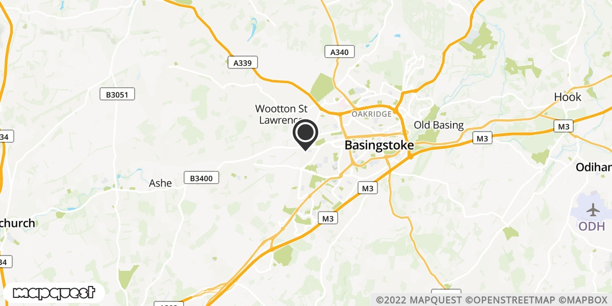 local map of watch repair drop off points in Basingstoke, Hampshire | Repairs by Post