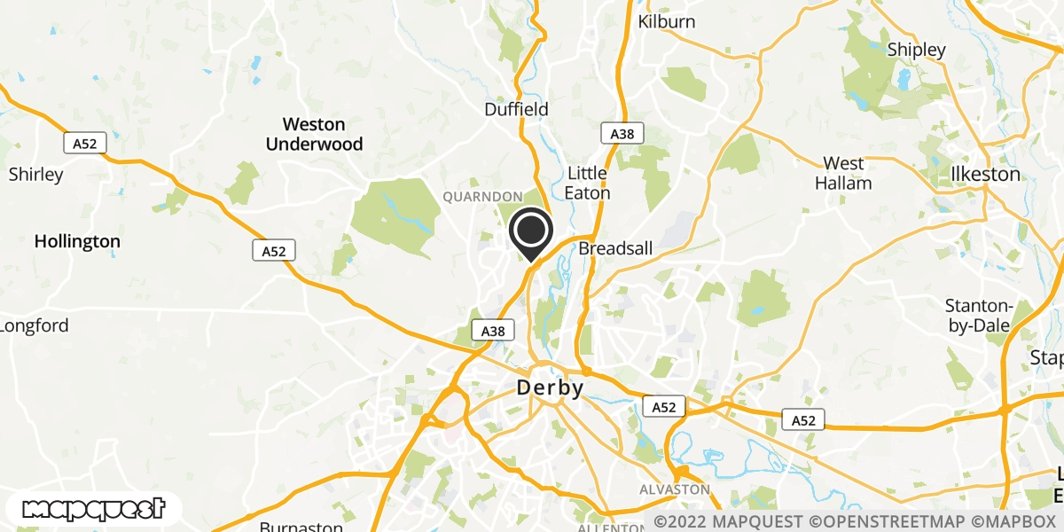 local map of watch repair drop off points in Baslow, Derbyshire | Repairs by Post