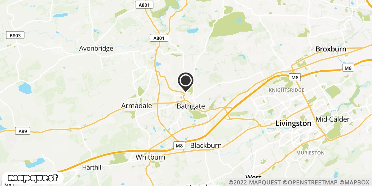 local map of watch repair drop off points in Bathgate, Lothian | Repairs by Post