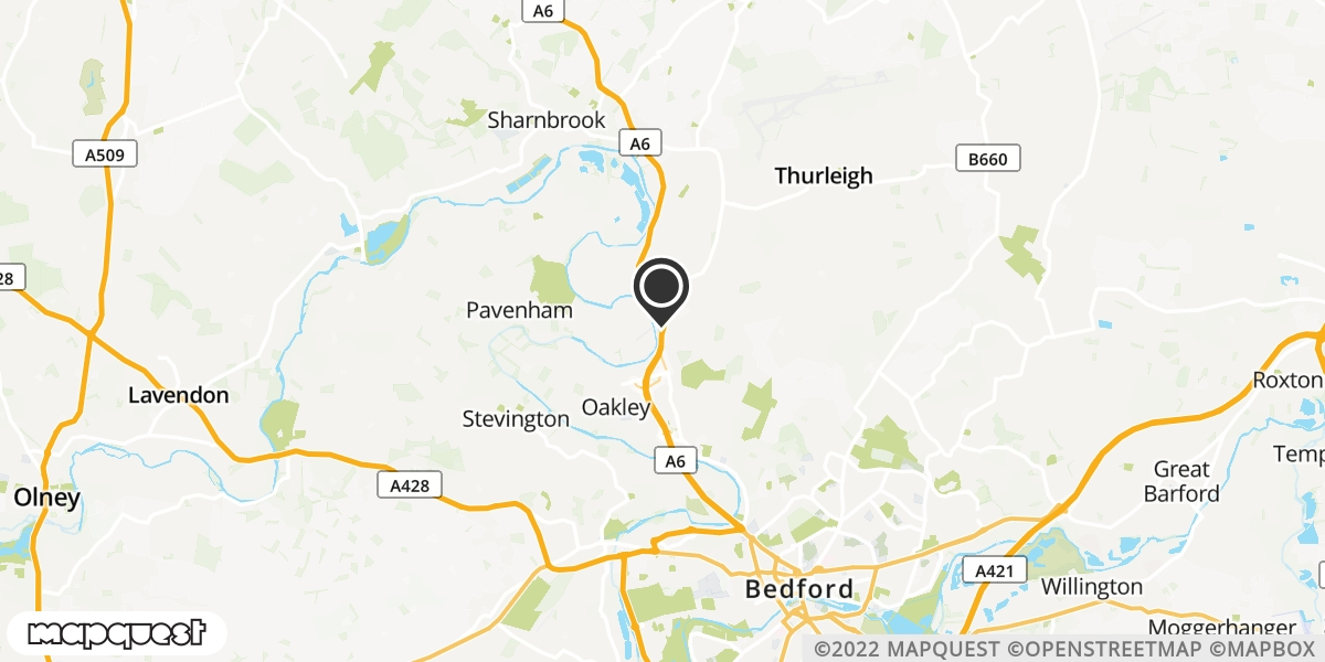 local map of watch repair drop off points in Bedford, Bedfordshire | Repairs by Post