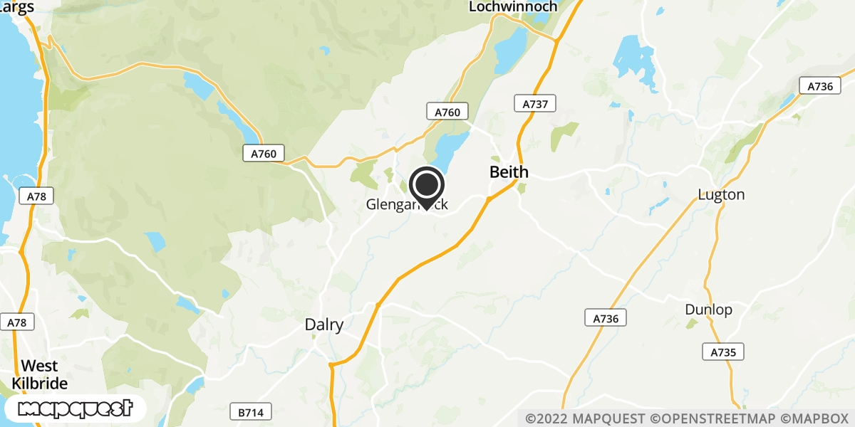 local map of watch repair drop off points in Beith, Ayrshire | Repairs by Post