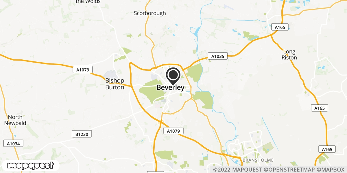 local map of watch repair drop off points in Beverley, East Riding of Yorkshire | Repairs by Post
