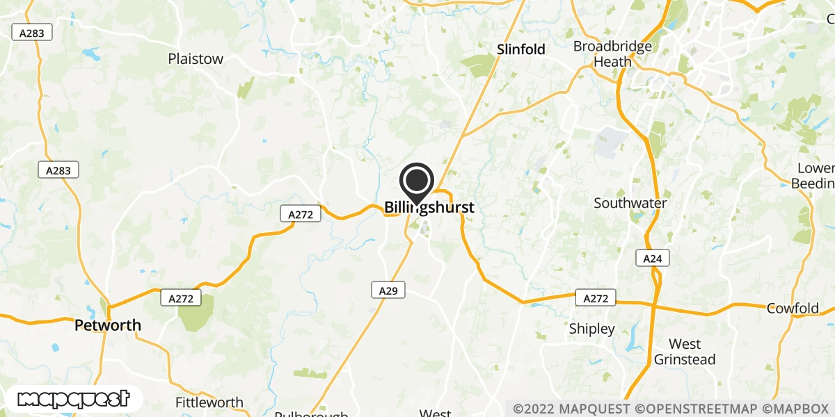 local map of watch repair drop off points in Billingshurst, West Sussex | Repairs by Post