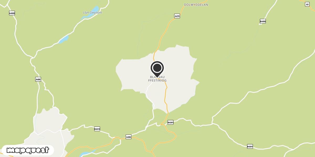 local map of watch repair drop off points in Blaenau Ffestiniog, Gwynedd | Repairs by Post