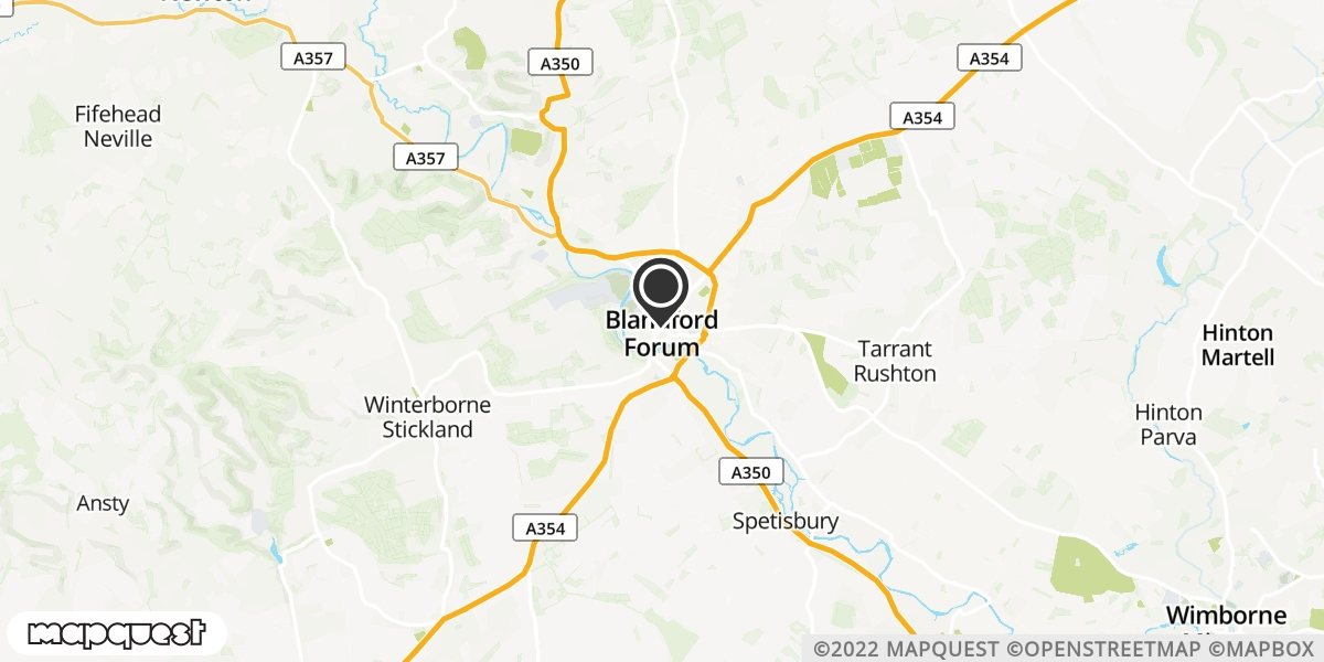local map of watch repair drop off points in Blandford Forum, Dorset | Repairs by Post