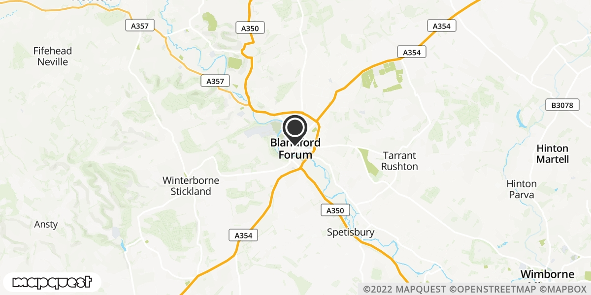 local map of watch repair drop off points in Blandford, Dorset | Repairs by Post