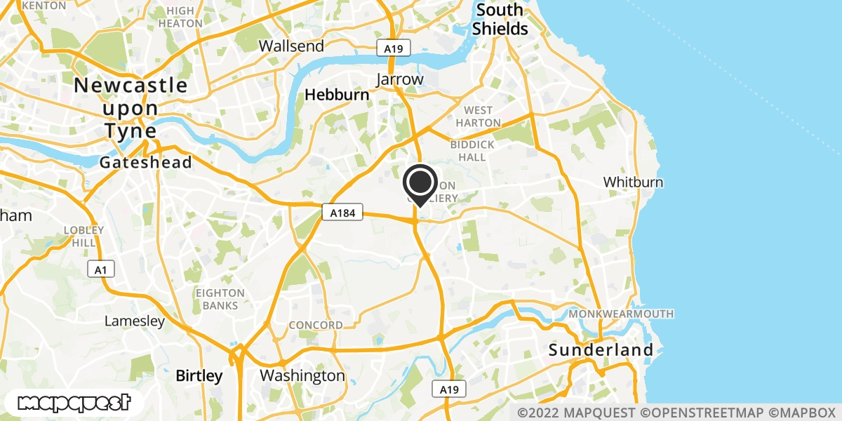 local map of watch repair drop off points in Boldon Colliery, Tyne and Wear | Repairs by Post