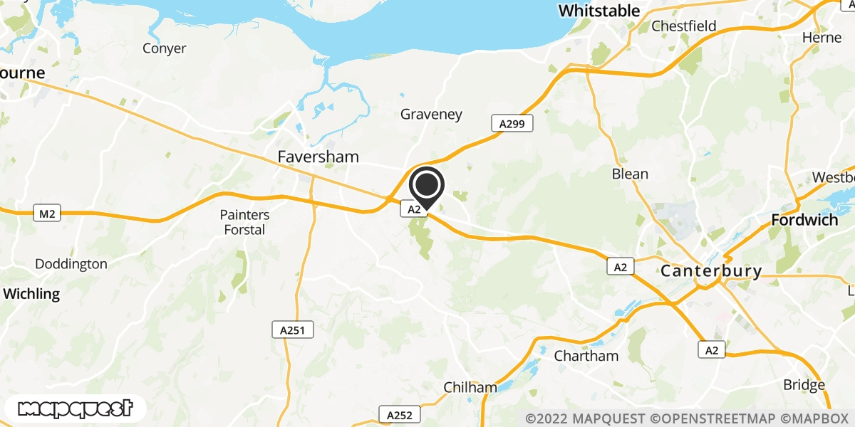 local map of watch repair drop off points in Boughton Under Blean, Kent | Repairs by Post