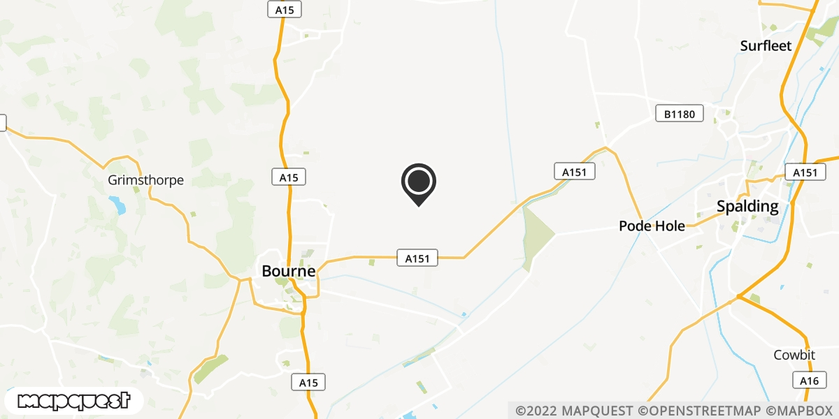 local map of watch repair drop off points in Bourne, Lincolnshire | Repairs by Post