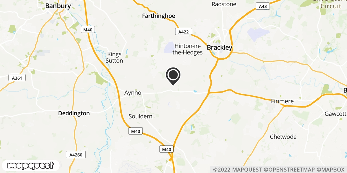 local map of watch repair drop off points in Brackley, Northamptonshire | Repairs by Post