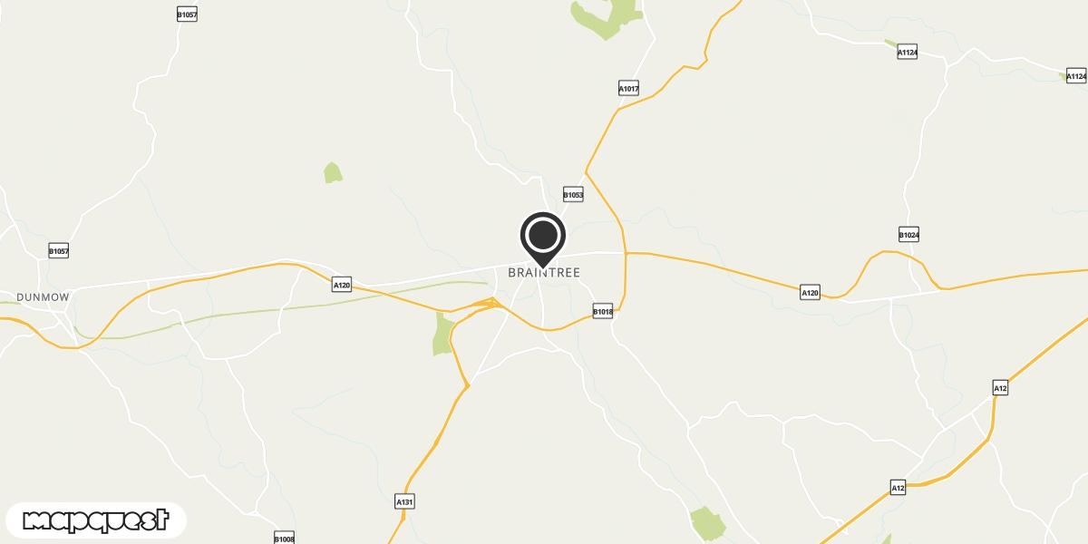 local map of watch repair drop off points in Braintree, Essex | Repairs by Post