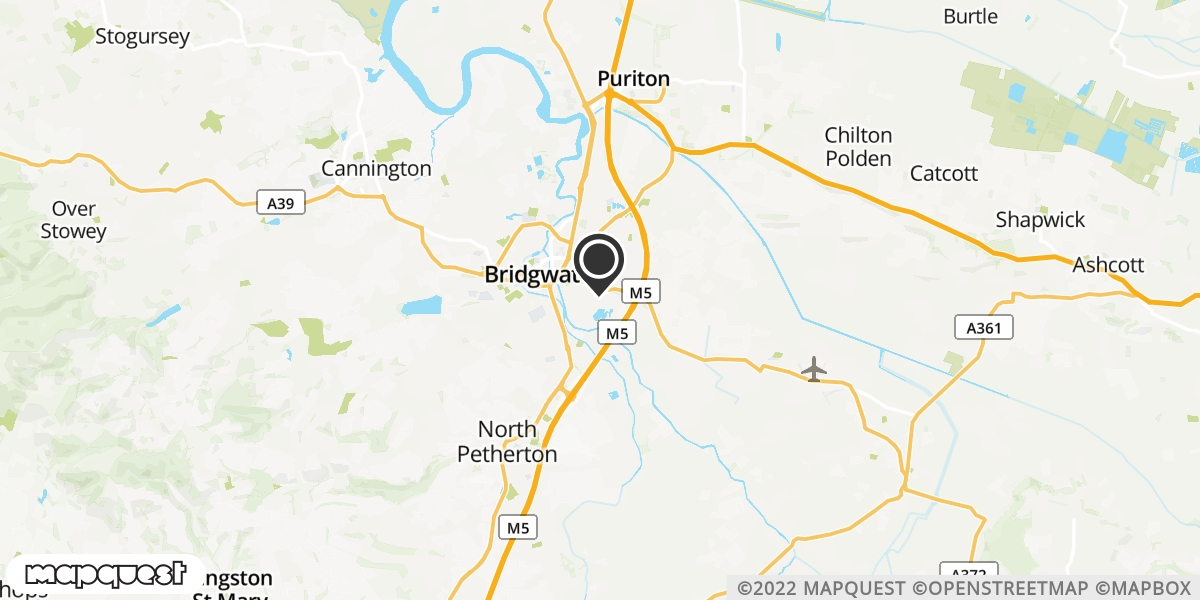 local map of watch repair drop off points in Bridgwater, Somerset | Repairs by Post