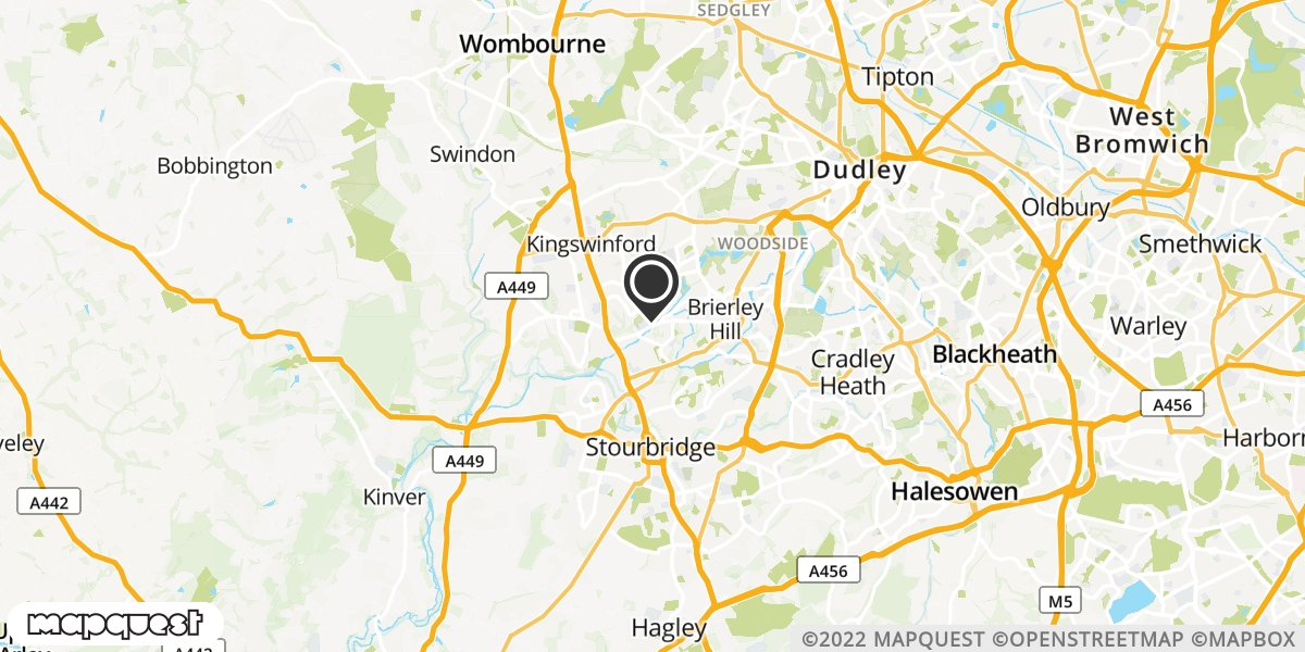 local map of watch repair drop off points in Brierley Hill, West Midlands | Repairs by Post