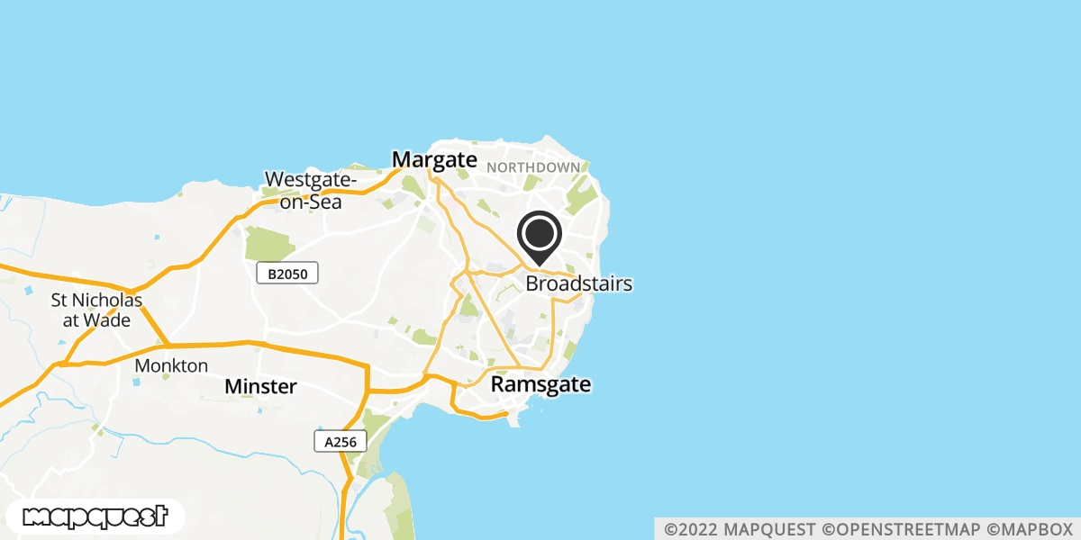 local map of watch repair drop off points in Broadstairs, Kent | Repairs by Post