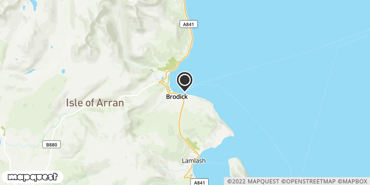 local map of watch repair drop off points in Brodick, Isle of Arran | Repairs by Post