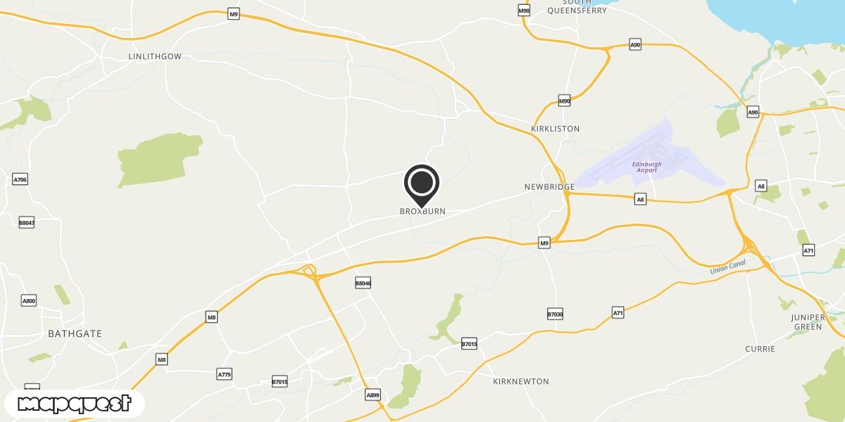 local map of watch repair drop off points in Broxburn, Lothian | Repairs by Post