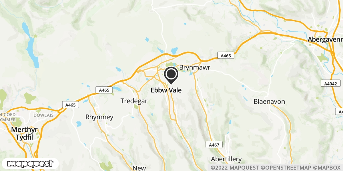 local map of watch repair drop off points in Brynmawr, Gwent | Repairs by Post
