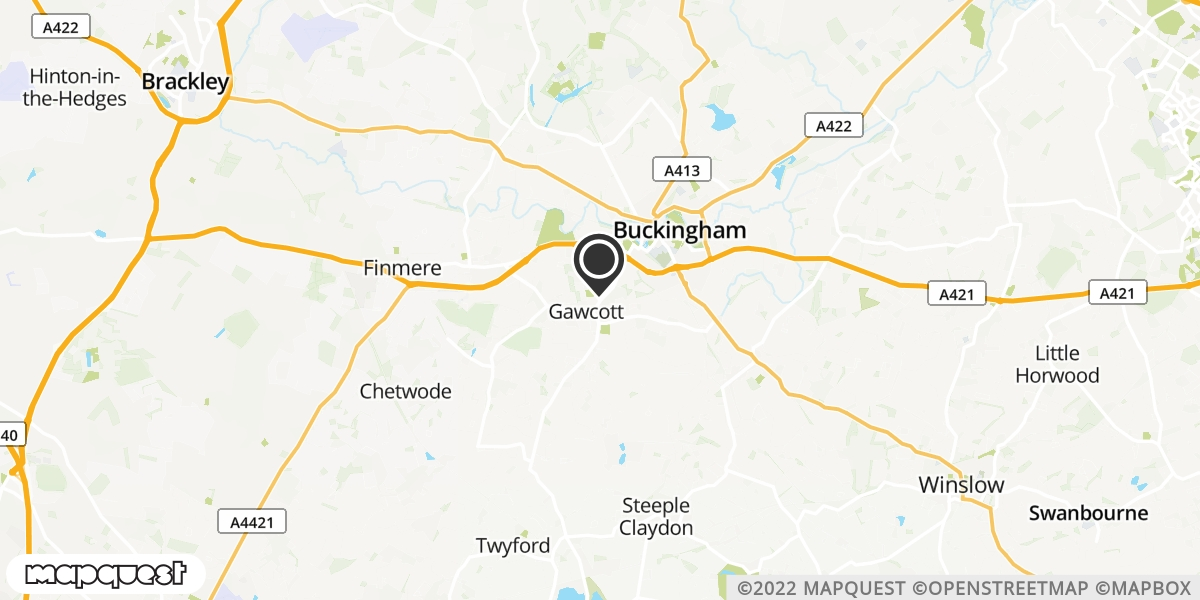 local map of watch repair drop off points in Buckingham, Buckinghamshire | Repairs by Post