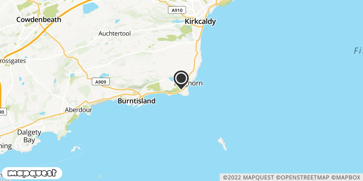 local map of watch repair drop off points in Burntisland, Fife   Repairs by Post