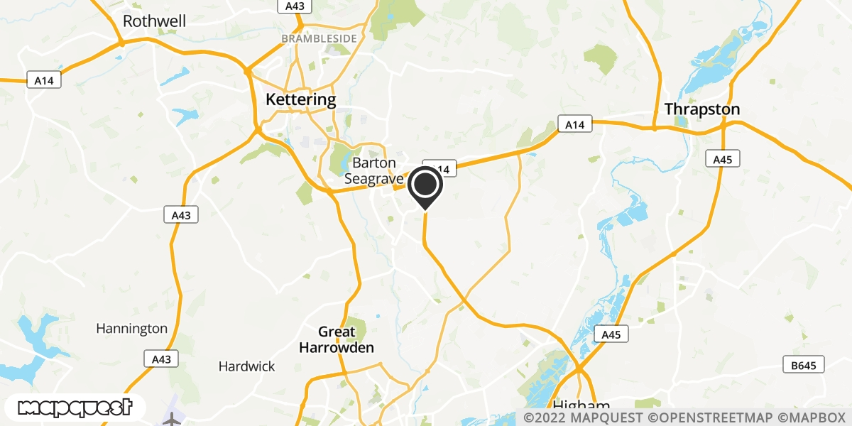 local map of watch repair drop off points in Burton Latimer, Northamptonshire | Repairs by Post
