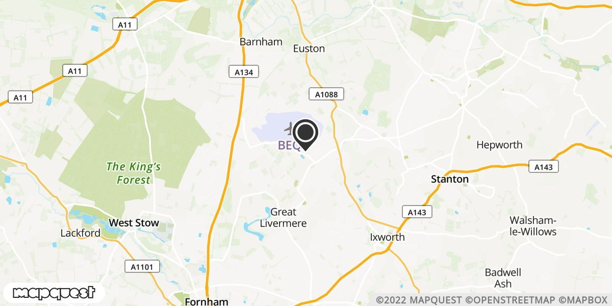 local map of watch repair drop off points in Bury St Edmunds, Suffolk   Repairs by Post